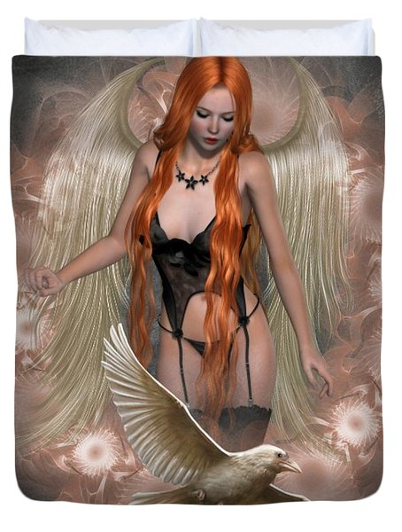 Angel Of The Ravens Duvet Cover