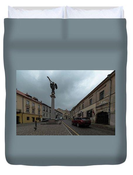 Angel Of Uzupis Duvet Cover