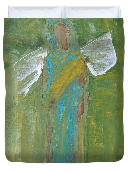 Angel Praise And Worship Duvet Cover