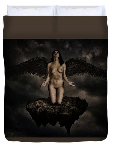 Angel Duvet Cover by Ramon Martinez