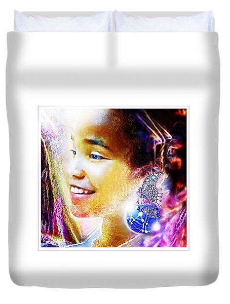 Angel Smile Duvet Cover