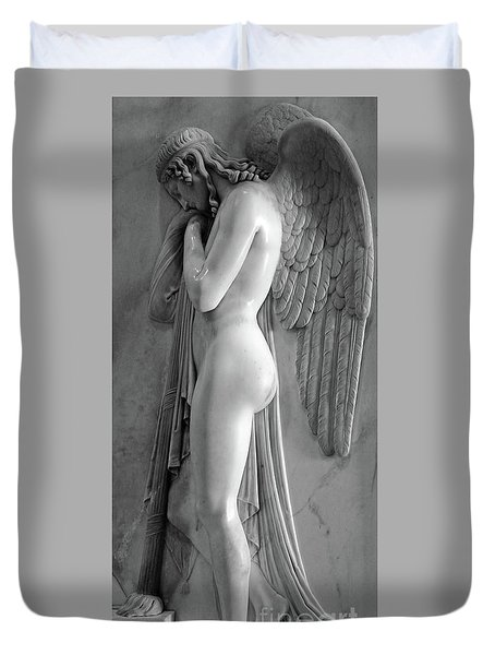 Angel Statue In St.peters Basilica Duvet Cover
