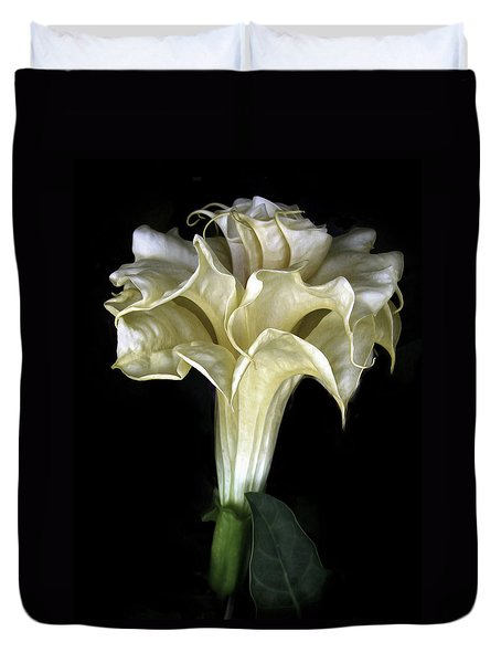 Angel Trumpet Duvet Cover by Jessica Jenney