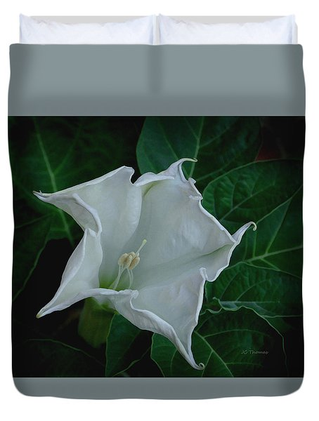 Angel Trumpet Opening Duvet Cover