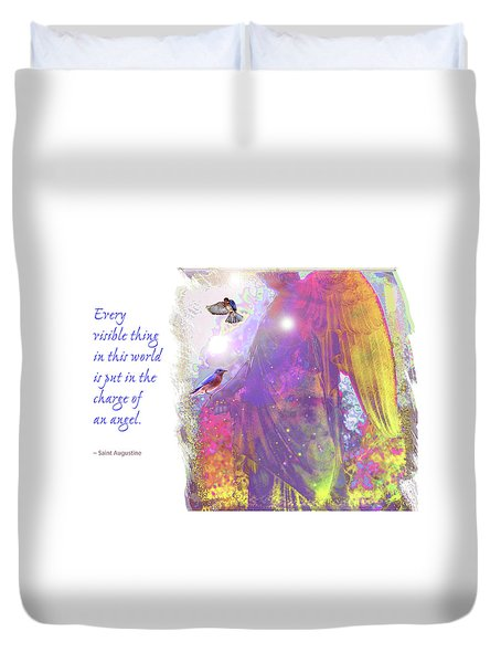 Duvet Cover featuring the photograph Angel Vision by Marie Hicks