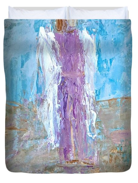 Angel With Confidence Duvet Cover