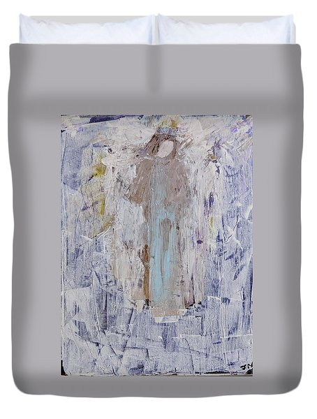 Angel With Her Horse Duvet Cover