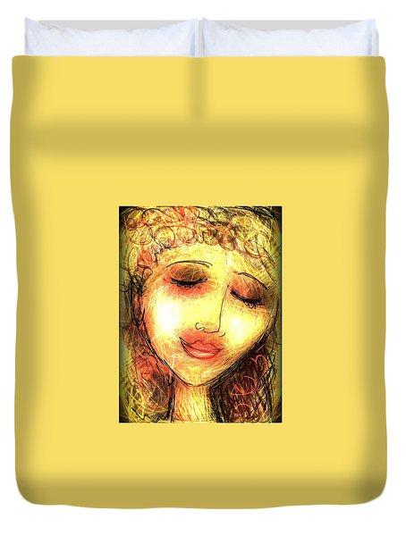 Angela Duvet Cover by Elaine Lanoue