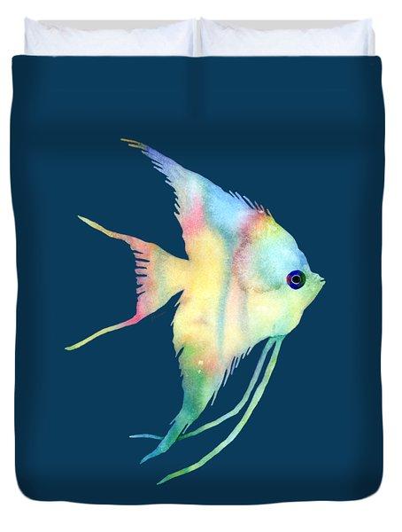 Angelfish I - Solid Background Duvet Cover