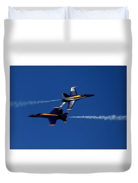 Duvet Cover featuring the photograph Angelic Convergence by John King