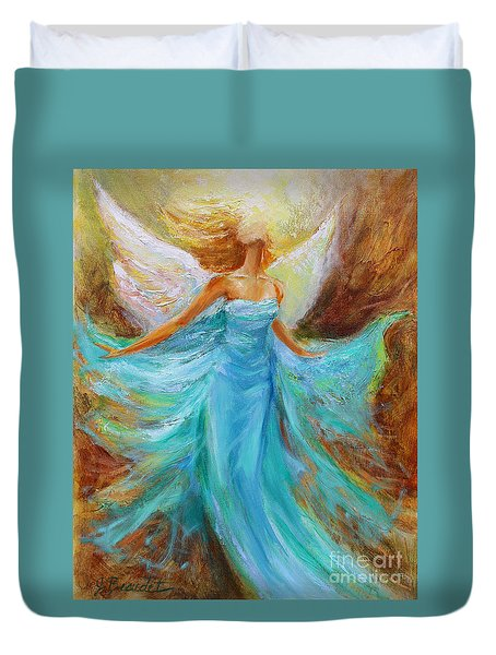 Angelic Rising Duvet Cover