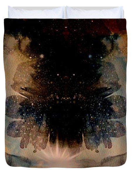 Angels Administering Spiritual Gifts Duvet Cover