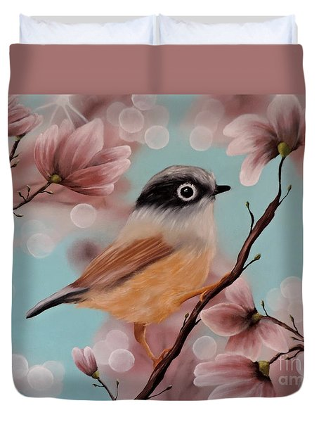Angels Amongst Us Duvet Cover by Dianna Lewis