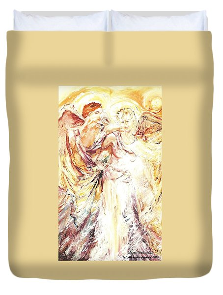 Angels Emerging Duvet Cover