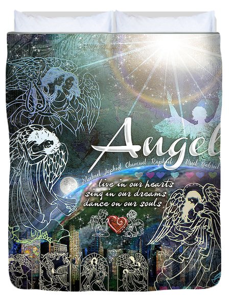 Angels Duvet Cover
