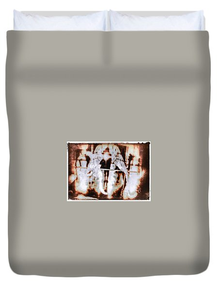 Angels In The Mirror Duvet Cover