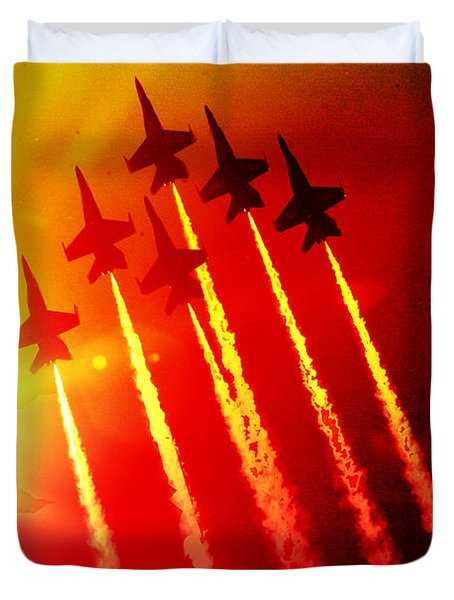 Angels Into The Sun Duvet Cover