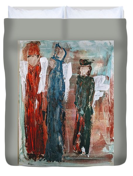 Angels Of The Night Duvet Cover