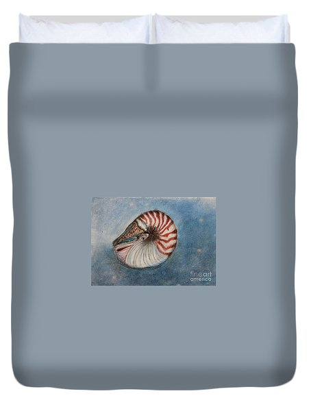Angel's Seashell  Duvet Cover by Kim Nelson