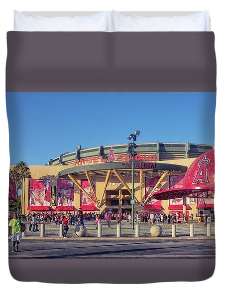 Angels Stadium Duvet Cover