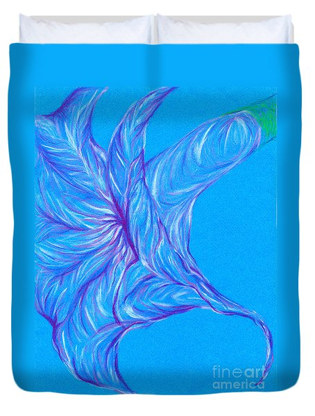 Duvet Cover featuring the photograph Angel's Trumpet by Kim Sy Ok