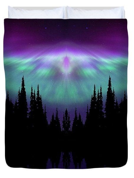 Angels Watching Over You Duvet Cover