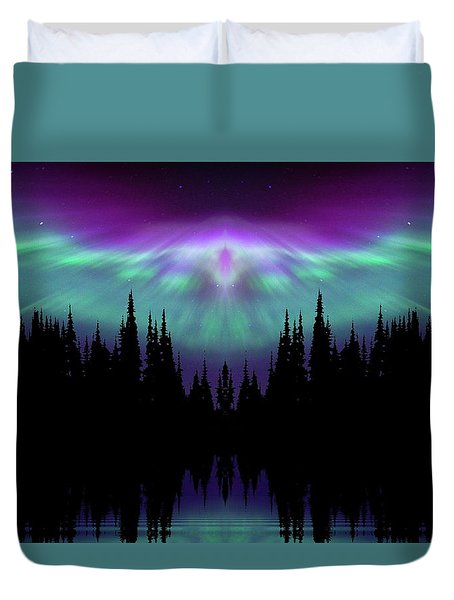 Angels Watching Over You Duvet Cover by Andrea Kollo