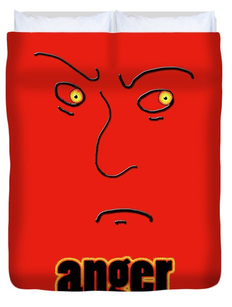 Anger Duvet Cover by Methune Hively