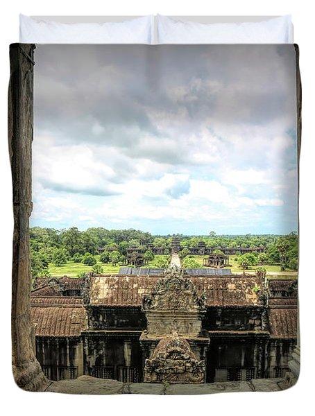 Angkor Courtyard Cambodia  Duvet Cover