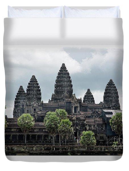 Angkor Wat Focus  Duvet Cover by Chuck Kuhn