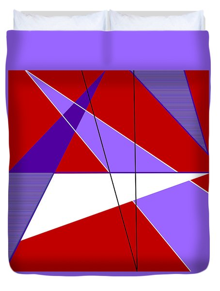 Angles And Triangles Duvet Cover