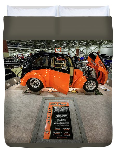 Duvet Cover featuring the photograph Anglia by Randy Scherkenbach