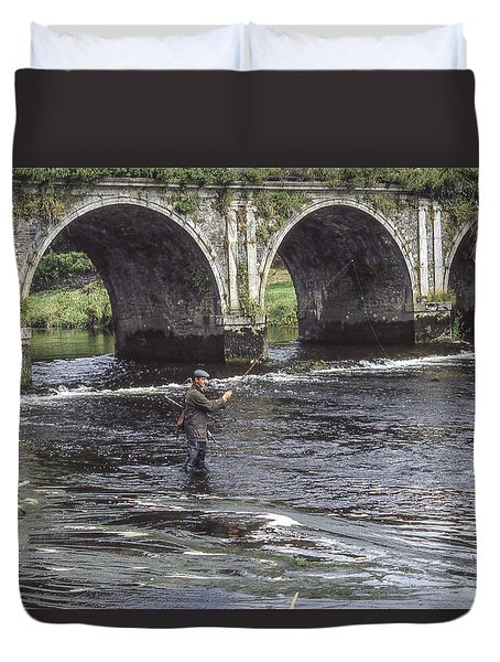 Angling Under The Arches Duvet Cover