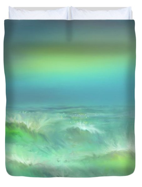 Angry Irma Duvet Cover