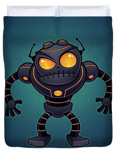 Angry Robot Duvet Cover by John Schwegel