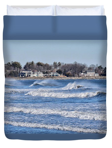 Angry Sea Duvet Cover by Tricia Marchlik