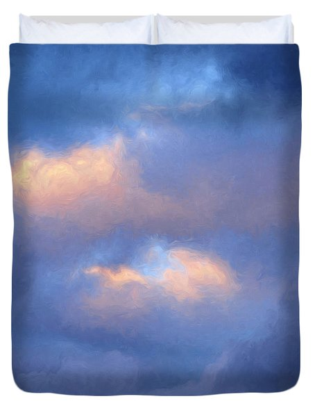 Angry Sky Over The Adirondacks Duvet Cover