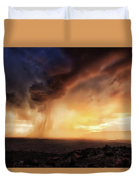 Angry Sky Duvet Cover