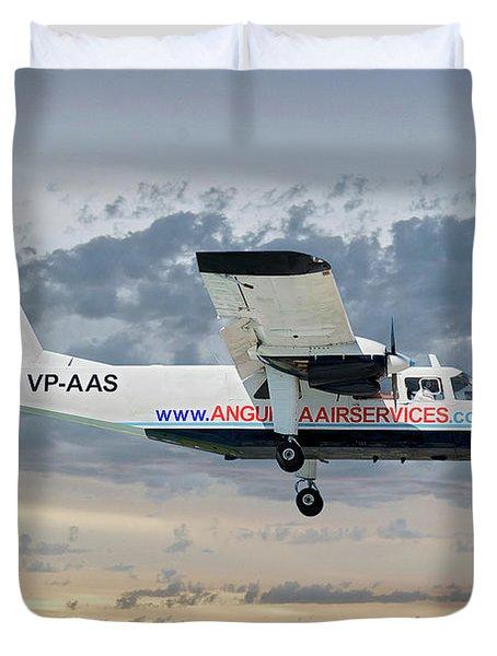 Anguilla Air Services Britten-norman Bn-2a-26 Islander 114 Duvet Cover
