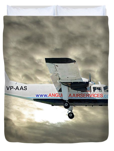 Anguilla Air Services Britten-norman Bn-2a-26 Islander 115 Duvet Cover