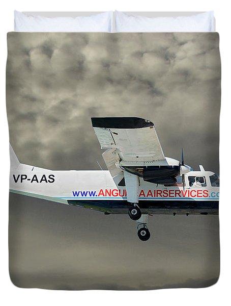 Anguilla Air Services Britten-norman Bn-2a-26 Islander 116 Duvet Cover