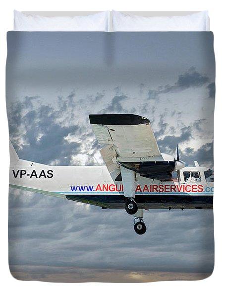 Anguilla Air Services Britten-norman Bn-2a-26 Islander 113 Duvet Cover