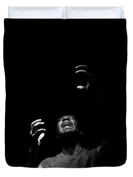 Duvet Cover featuring the photograph Anguish by Eric Christopher Jackson