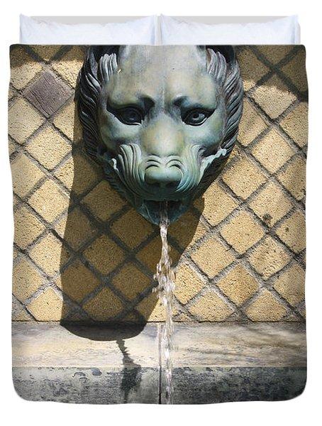 Animal Fountain Head Duvet Cover by Teresa Mucha