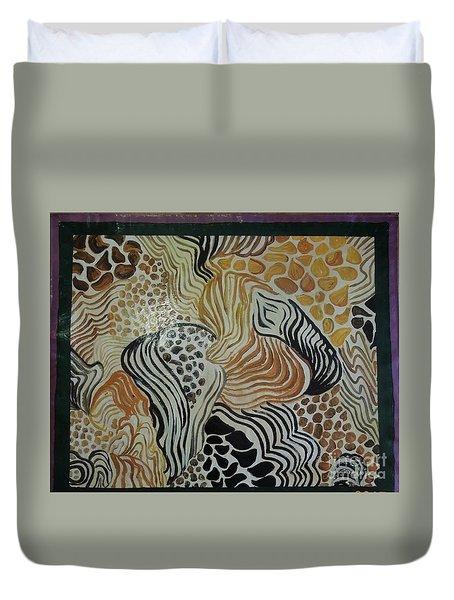Animal Print Floor Cloth Duvet Cover