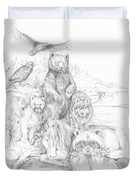 Animal Wisdom Duvet Cover