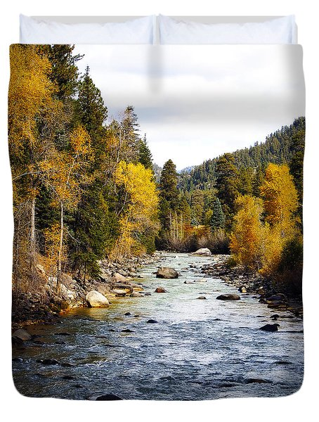 Duvet Cover featuring the photograph Animas River by Kurt Van Wagner
