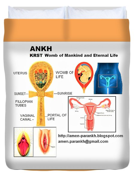 Ankh Womb Duvet Cover