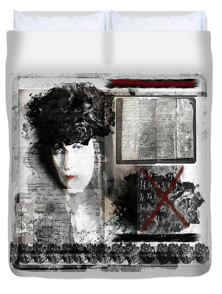 Anna Akhmatova On My Mind Duvet Cover