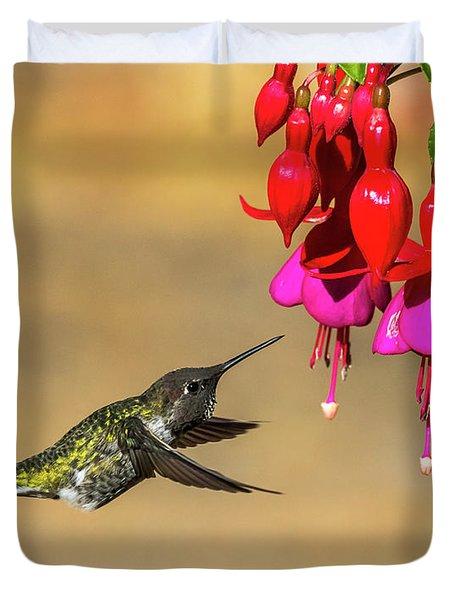 Anna And Hardy Fuchsia Flower Duvet Cover